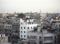 SIRIA. DAMASCO. Vista de la ciudad al atardecer.Syrian Arab Republic. Damascus. Aspect of the city at sunset. Photo taken before the Syrian CIvil War.. Album / Prisma. .