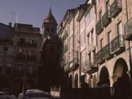 VISTA DE LA PLAZA MAYOR - FOTO AÑOS 60. Localización: EXTERIOR. Orense. ESPAÑA.VISTA DE LA PLAZA MAYOR - FOTO AÑOS 60. Location: EXTERIOR. Orense. SPAIN.. Album / Oronoz. Orense SPAIN.