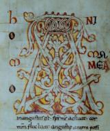 Libro de sinónimos, San Isidoro escrito por Erdemi. Museo Episcopal de Vic.Libro de sinónimos, San Isidoro escrito por Erdemi. Museo Episcopal de Vic.. Album / Ramon Manent. .