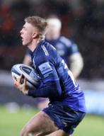 21st February 2020; AJ Bell Stadium, Salford, Lancashire, England; Premiership Rugby, Sale Sharks versus Leicester Tigers; Tom Curtis of Sale Sharks came on as a late substitute for Will Cliff of Sale Sharks