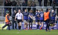21st February 2020; AJ Bell Stadium, Salford, Lancashire, England; Premiership Rugby, Sale Sharks versus Leicester Tigers; Marlon Yarde of Sale Sharks scores his third try for Sharks as they go on to win 36-