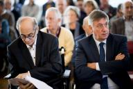 Flemish Minister President Jan Jambon (R) is seen at the re-opening of the