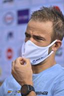 Belgian Victor Campenaerts pictured during a press conference at the cycling world championships in Imola, Thursday 24 September 2020, in Imola, Italy. BELGA PHOTO ERIC LALMAND