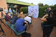 Belgian Wout Van Aert pictured during a press conference at the cycling world championships in Imola, Thursday 24 September 2020, in Imola, Italy. BELGA PHOTO ERIC LALMAND