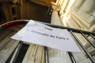 Ilustration shows the entrance of the palace of justice ahead of a session of the indictments chamber (Chambre de mise en accusation - Kamer van Inbeschuldigingstelling) in the file \'Paris bis\' concerning the Paris terrorist attacks of November 2015, at the Brussels justice palace, Thursday 24 September 2020. This part of the investigation focusses on some 15 people in Belgium who were sideways involved in the Paris attacks, for exemple by renting housing of providing false documents. BELGA PHOTO THIERRY ROGE