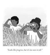 """Looks like progress, but it's too soon to tell"