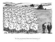 """It seems you promised them herd immunity, sir"