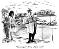 """Barkeeper! More chick-peas"