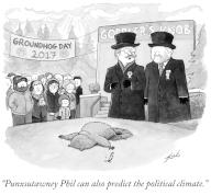 """""""Punxsutawney Phil can also predict the political climate"""