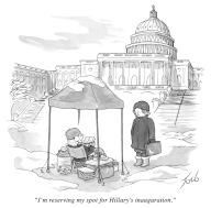 """""""I'm reserving my spot for Hillary's inauguration"""