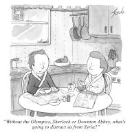 """""""Without the Olympics, Sherlock or Downton Abbey, what's going to distract us from Syria"""