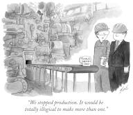 """""""We stopped production. It would be totally illogical to make more than one"""