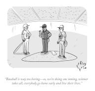 """""""Baseball is way too boring—so, we're doing one inning, winner takes all, everybody go home early and live their lives"""