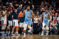 December 8, 2019: North Carolina Guard Jeremiah Francis (13) during the NCAA Basketball game between the University of North Carolina Tar Heels and University of Virginia Cavaliers at John Paul Jones Arena in Charlottesville, VA. Brian McWalters/