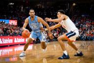 December 8, 2019: North Carolina Forward Garrison Brooks (15) during the NCAA Basketball game between the University of North Carolina Tar Heels and University of Virginia Cavaliers at John Paul Jones Arena in Charlottesville, VA. Brian McWalters/