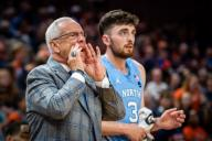 December 8, 2019: North Carolina Head Coach Roy Williams calls out instructions during the NCAA Basketball game between the University of North Carolina Tar Heels and University of Virginia Cavaliers at John Paul Jones Arena in Charlottesville, VA. Brian McWalters/
