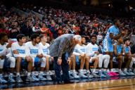 December 8, 2019: North Carolina Head Coach Roy Williams looks crushed during the NCAA Basketball game between the University of North Carolina Tar Heels and University of Virginia Cavaliers at John Paul Jones Arena in Charlottesville, VA. Brian McWalters/