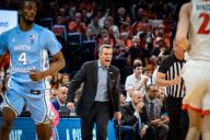December 8, 2019: Virginia Head Coach Tony Bennett during the NCAA Basketball game between the University of North Carolina Tar Heels and University of Virginia Cavaliers at John Paul Jones Arena in Charlottesville, VA. Brian McWalters/