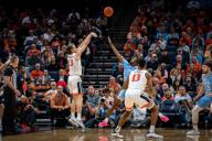December 8, 2019: Virginia Guard Kody Stattmann (23) during the NCAA Basketball game between the University of North Carolina Tar Heels and University of Virginia Cavaliers at John Paul Jones Arena in Charlottesville, VA. Brian McWalters/