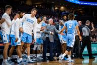 December 8, 2019: North Carolina celebration during the NCAA Basketball game between the University of North Carolina Tar Heels and University of Virginia Cavaliers at John Paul Jones Arena in Charlottesville, VA. Brian McWalters/