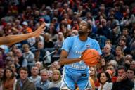 December 8, 2019: North Carolina Guard Brandon Robinson (4) during the NCAA Basketball game between the University of North Carolina Tar Heels and University of Virginia Cavaliers at John Paul Jones Arena in Charlottesville, VA. Brian McWalters/