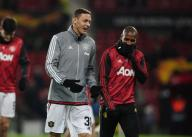 December 12, 2019, Manchester, United Kingdom: Nemanja Matic and Ashley Young of Manchester United during the UEFA Europa League match at Old Trafford, Manchester. Picture date: 12th December 2019. Picture credit should read: Andrew Yates/