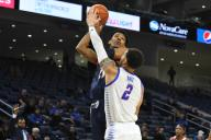 December 14, 2019: [PLAYER] in action during the non-conference NCAA game between DePaul vs UIC at Wintrust Area in Chicago, Illinois. Dean Reid/CSM.