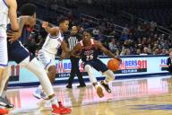 December 14, 2019: Godwin Boahen (25) of the Illinois-Chicago Flames in action during the non-conference NCAA game between DePaul vs UIC at Wintrust Area in Chicago, Illinois. Dean Reid/CSM.