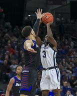 Saturday Jan 18 - Butler Bulldogs guard Kamar Baldwin (3) shoots a jump shot during the NCAA game between the Butler Bulldogs and the DePaul University Blue Demons at Wintrust Arena in Chicago IL. Gary E. Duncan Sr/