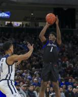 Saturday Jan 18 - DePaul Blue Demons forward Romeo Weems (1) shoots a jump shot during the NCAA game between the Butler Bulldogs and the DePaul University Blue Demons at Wintrust Arena in Chicago IL. Gary E. Duncan Sr/