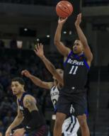 Saturday Jan 18 - DePaul Blue Demons guard Charlie Moore (11) shoots a jump shot during the NCAA game between the Butler Bulldogs and the DePaul University Blue Demons at Wintrust Arena in Chicago IL. Gary E. Duncan Sr/