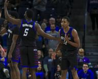 Saturday Jan 18 - DePaul Blue Demons guard Charlie Moore (11) reacts to being called for a technical foul during the NCAA game between the Butler Bulldogs and the DePaul University Blue Demons at Wintrust Arena in Chicago IL. Gary E. Duncan Sr/