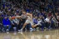 Saturday Jan 18 - Butler Bulldogs forward Bryce Golden (33)tries to save the ball from going out of bounds during the NCAA game between the Butler Bulldogs and the DePaul University Blue Demons at Wintrust Arena in Chicago IL. Gary E. Duncan Sr/