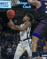Saturday Jan 18 - Butler Bulldogs guard Khalif Battle (4) put up a shot during the NCAA game between the Butler Bulldogs and the DePaul University Blue Demons at Wintrust Arena in Chicago IL. Gary E. Duncan Sr/