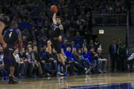Saturday Jan 18 - DePaul Blue Demons forward Jaylen Butz (2) leaps for a pass during the NCAA game between the Butler Bulldogs and the DePaul University Blue Demons at Wintrust Arena in Chicago IL. Gary E. Duncan Sr/