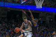 Saturday Jan 18 - Butler Bulldogs forward Sean McDermott (22) looks to pass underneath the basket during the NCAA game between the Butler Bulldogs and the DePaul University Blue Demons at Wintrust Arena in Chicago IL. Gary E. Duncan Sr/