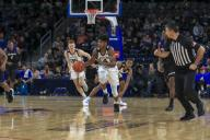 Saturday Jan 18 - Butler Bulldogs guard Khalif Battle (4) pushes the ball down court during the NCAA game between the Butler Bulldogs and the DePaul University Blue Demons at Wintrust Arena in Chicago IL. Gary E. Duncan Sr/