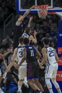 Saturday Jan 18 - DePaul Blue Demons forward Jaylen Butz (2) dunks over Butler Bulldogs forward Sean McDermott (22) during the NCAA game between the Butler Bulldogs and the DePaul University Blue Demons at Wintrust Arena in Chicago IL. Gary E. Duncan Sr/