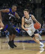 Saturday Jan 18 - Butler Bulldogs forward Sean McDermott (22) drives to the basket during the NCAA game between the Butler Bulldogs and the DePaul University Blue Demons at Wintrust Arena in Chicago IL. Gary E. Duncan Sr/
