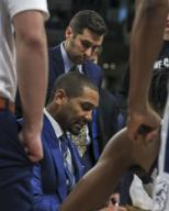 Saturday Jan 18 - Butler Bulldogs Head Coach LaVall Jordan during the NCAA game between the Butler Bulldogs and the DePaul University Blue Demons at Wintrust Arena in Chicago IL. Gary E. Duncan Sr/