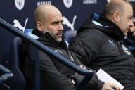 January 26, 2020, Manchester, United Kingdom: Pep Guardiola of Manchester City during the FA Cup match at the Etihad Stadium, Manchester. Picture date: 26th January 2020. Picture credit should read: James Wilson/