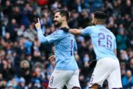 January 26, 2020, Manchester, United Kingdom: Ilkay Gundogan of Manchester City celebrates scoring the first goal during the FA Cup match at the Etihad Stadium, Manchester. Picture date: 26th January 2020. Picture credit should read: James Wilson/