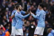 January 26, 2020, Manchester, United Kingdom: Bernardo Silva of Manchester City celebrates after scoring the second goal of the game during the FA Cup match at the Etihad Stadium, Manchester. Picture date: 26th January 2020. Picture credit should read: James Wilson/