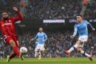 January 26, 2020, Manchester, United Kingdom: Phil Foden of Manchester City shoots at goal during the FA Cup match at the Etihad Stadium, Manchester. Picture date: 26th January 2020. Picture credit should read: James Wilson/