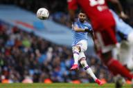 January 26, 2020, Manchester, United Kingdom: Riyad Mahrez of Manchester City shoots during the FA Cup match at the Etihad Stadium, Manchester. Picture date: 26th January 2020. Picture credit should read: James Wilson/