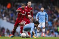 January 26, 2020, Manchester, United Kingdom: Ivan Cavaleiro of Fulham fouls David Silva of Manchester City during the FA Cup match at the Etihad Stadium, Manchester. Picture date: 26th January 2020. Picture credit should read: James Wilson/