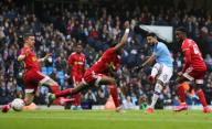January 26, 2020, Manchester, United Kingdom: Riyad Mahrez of Manchester City shoots at goal during the FA Cup match at the Etihad Stadium, Manchester. Picture date: 26th January 2020. Picture credit should read: James Wilson/