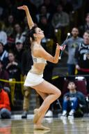 January 25, 2020: Colorado baton twirler Kaitlyn Turnbull performs during a timeout in the menââ¬â¢s basketball game between Colorado and Washington at the Coors Events Center in Boulder, CO. Colorado won 76-62. Derek Regensburger/CSM.