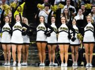 January 25, 2020: The Colorado cheerleaders perform during a timeout in the menââ¬â¢s basketball game between Colorado and Washington at the Coors Events Center in Boulder, CO. Colorado won 76-62. Derek Regensburger/CSM.