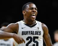 January 25, 2020: Colorado Buffaloes guard McKinley Wright IV (25) is fired up over his three pointer to open a big lead for the Buffs in the first half of the menââ¬â¢s basketball game between Colorado and Washington at the Coors Events Center in Boulder, CO. Colorado won 76-62. Derek Regensburger/CSM.